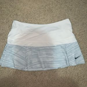 White and Blue Nike Tennis Skirt